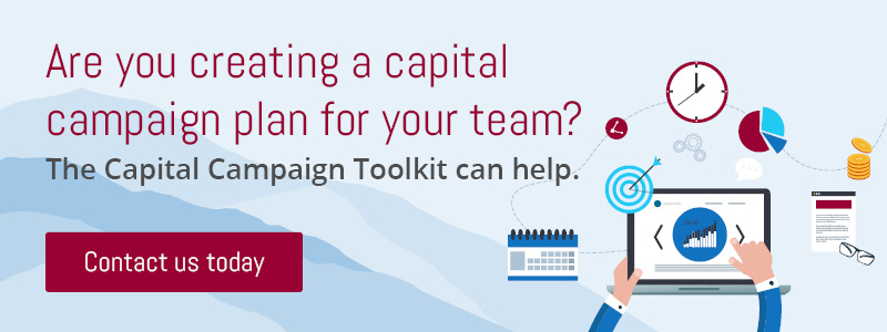 Contact the Capital Campaign Toolkit today for help creating your capital campaign plan
